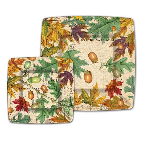 sc 1 st  Ferris Wheels and Carousels & Fall Leaves Dinner Paper Plates