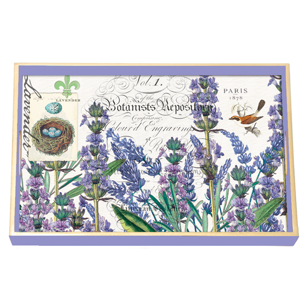 Lavender Rosemary Decoupage Wooden Vanity Tray By Michel