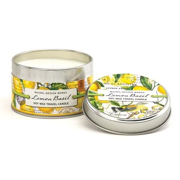 Michel Design Works Travel Candles Lemon Basil