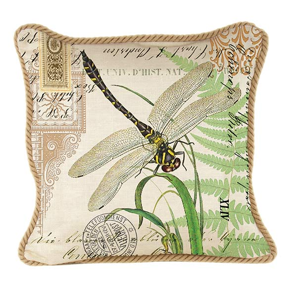 Dragonfly Kingdom Square Pillows By Michel Design Works