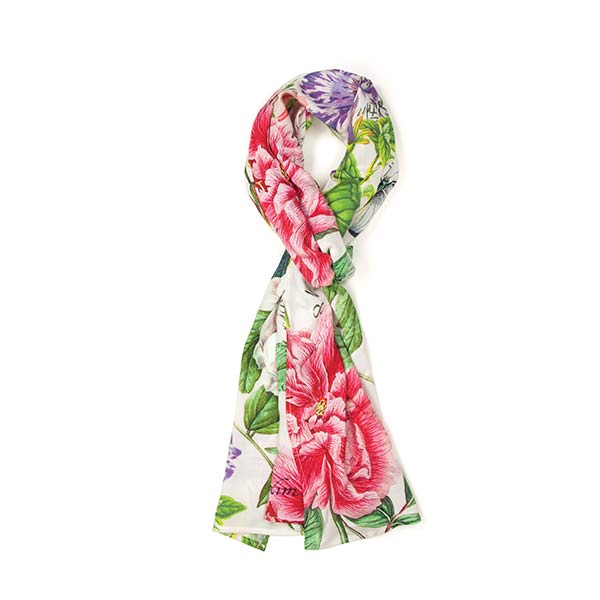 peony naturalist s library scarf by michel design works