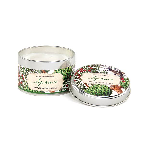 Michel Design Works Travel Candle Tin Spruce