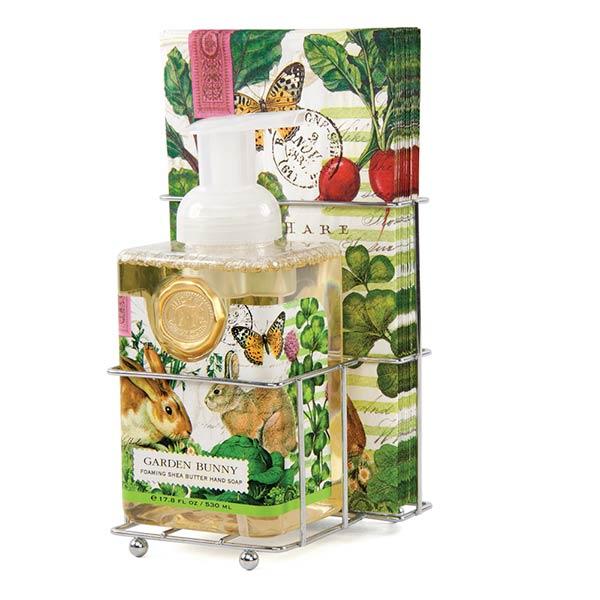 Garden Bunny Foaming Soap Napkins Set By Michel Design Works