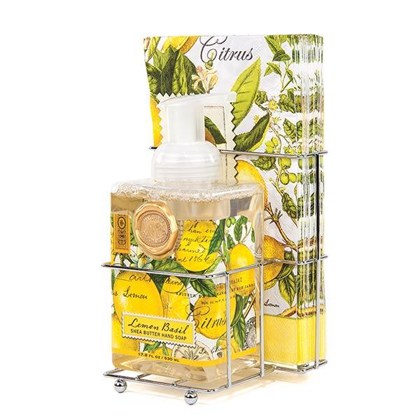 Lemon Basil Foaming Soap Napkins Set By Michel Design Works