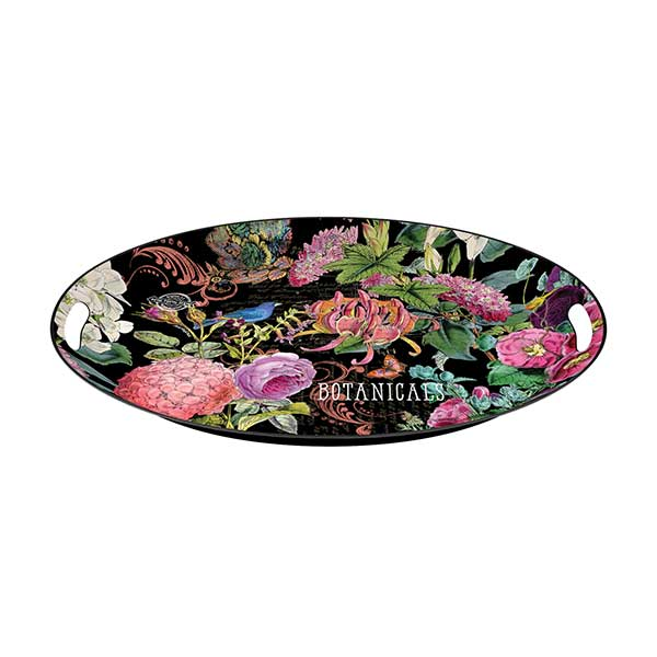 Michel design works large metal tray botanical garden for Tray garden designs
