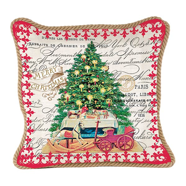 christmas tree square pillow