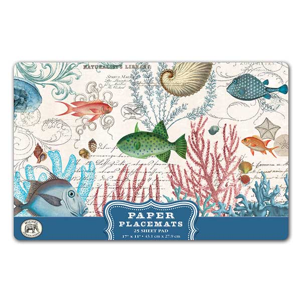 Sea Life Paper Placemats ...  sc 1 st  Ferris Wheels and Carousels & Michel Design Works Paper Placemats - Sea Life