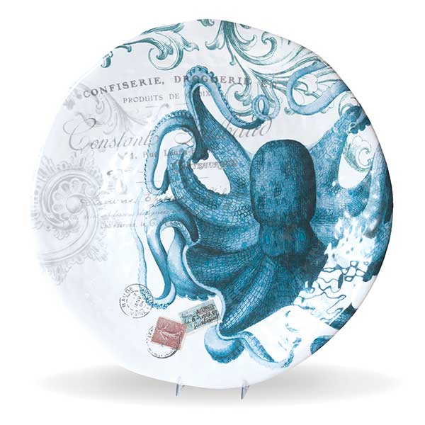 Michel Design Works Large Round Platter Octopus