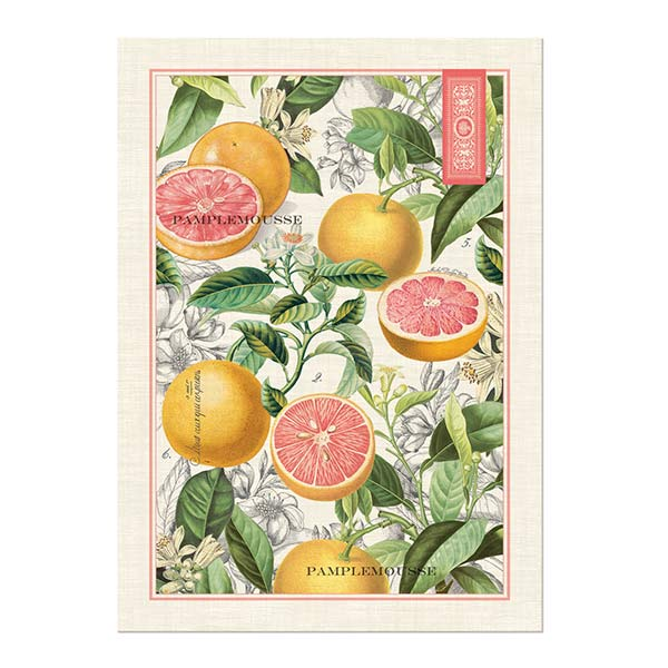 Pink Grapefruit Kitchen Towel Shop The Largest Selection Of Michel Design  Works ...