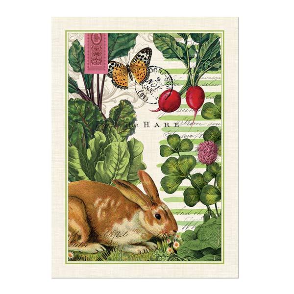 Elegant Garden Bunny Kitchen Towel Shop The Largest Selection Of Michel Design Works  ...