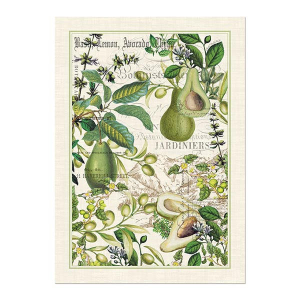 Michel Design Works Kitchen Towel Avocado Collection