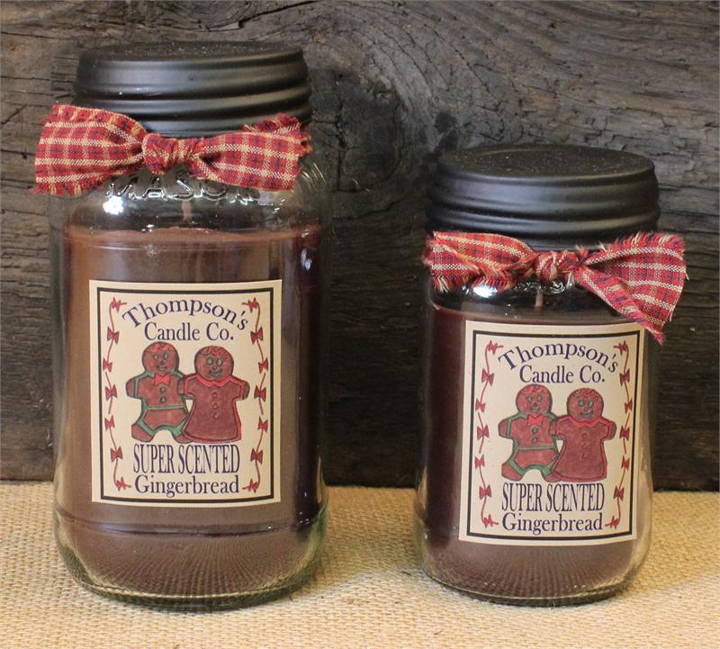 Gingerbread Mason Jar Candle By Thompson Candles