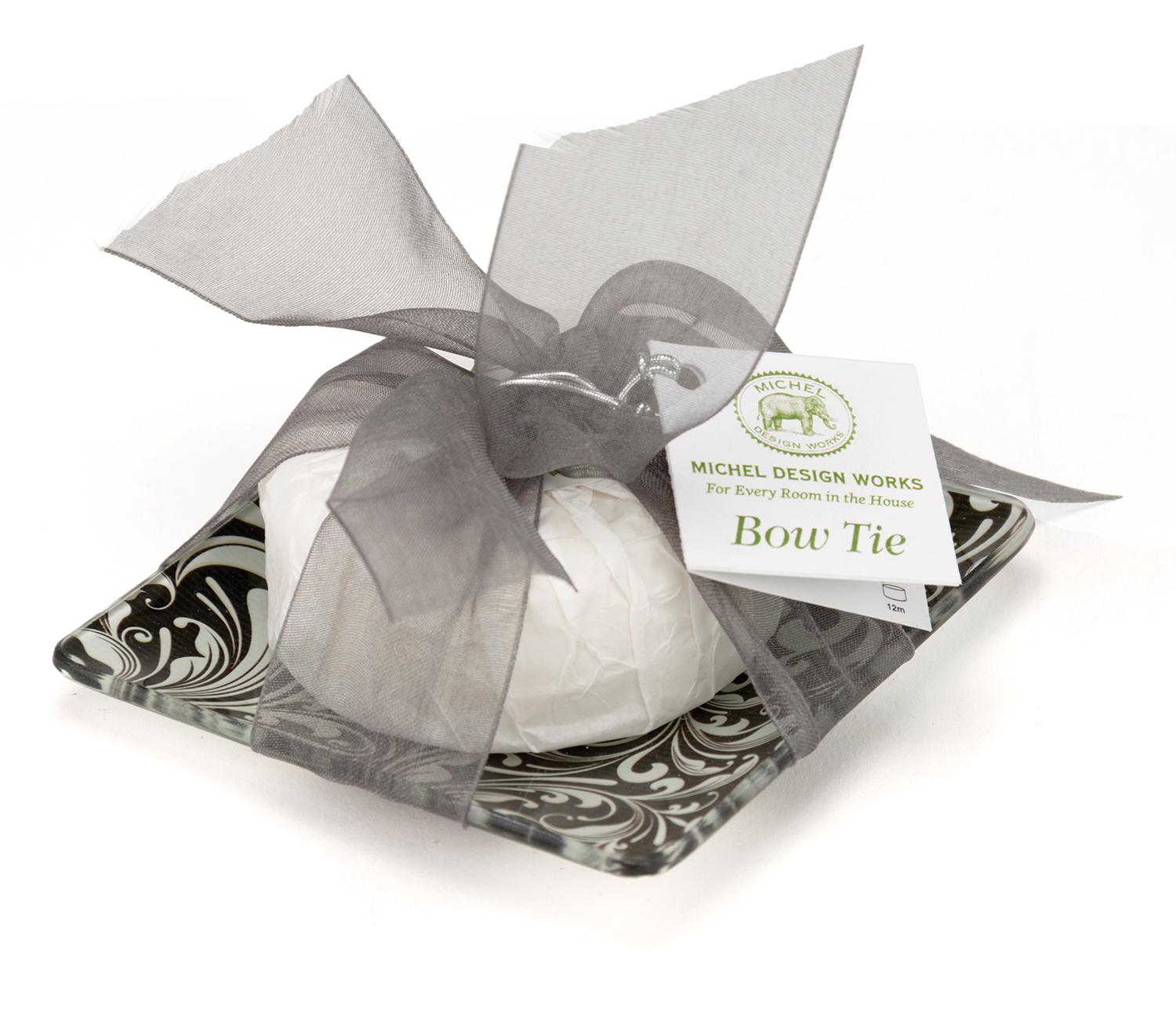 Honey Almond Glass Soap Dish and Soap Set
