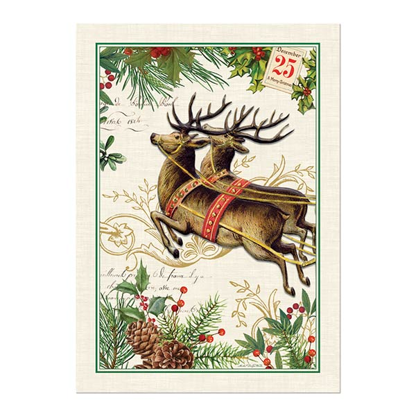 Michel Design Works Kitchen Towel Christmas Joy Collection