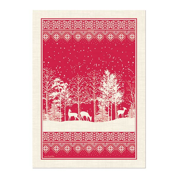 Michel Design Works Kitchen Towel Snowy Night Collection