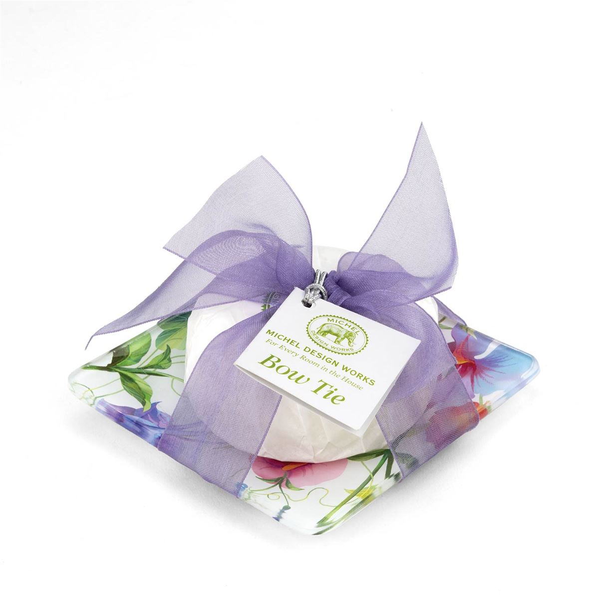Bow Tie Soap Dish Set - Sweet Pea Collection