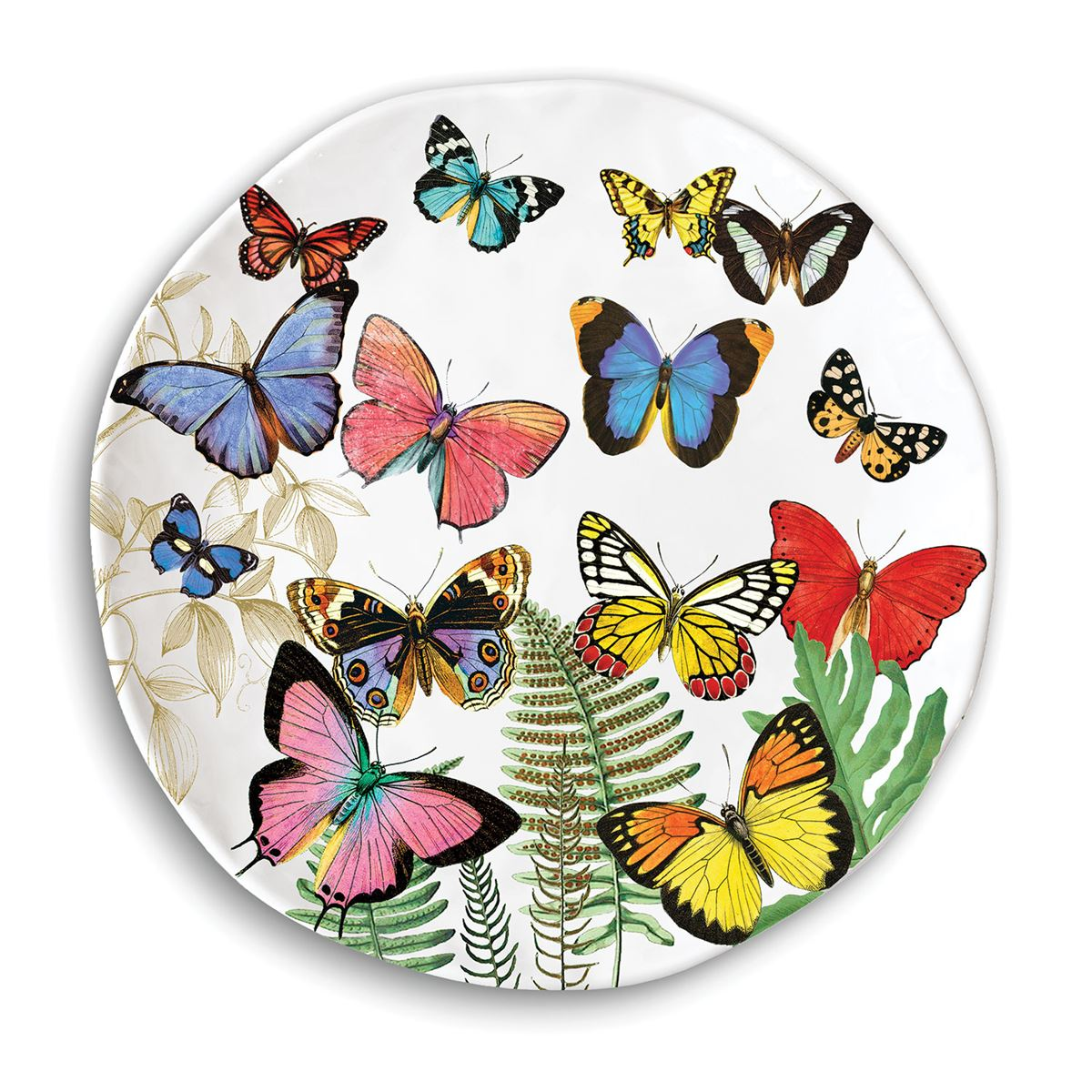 Papillon Melamine Casual Dinner Plate ...  sc 1 st  Ferris Wheels and Carousels & Michel Design Works Melamine Casual Dinner Plate - Papillon