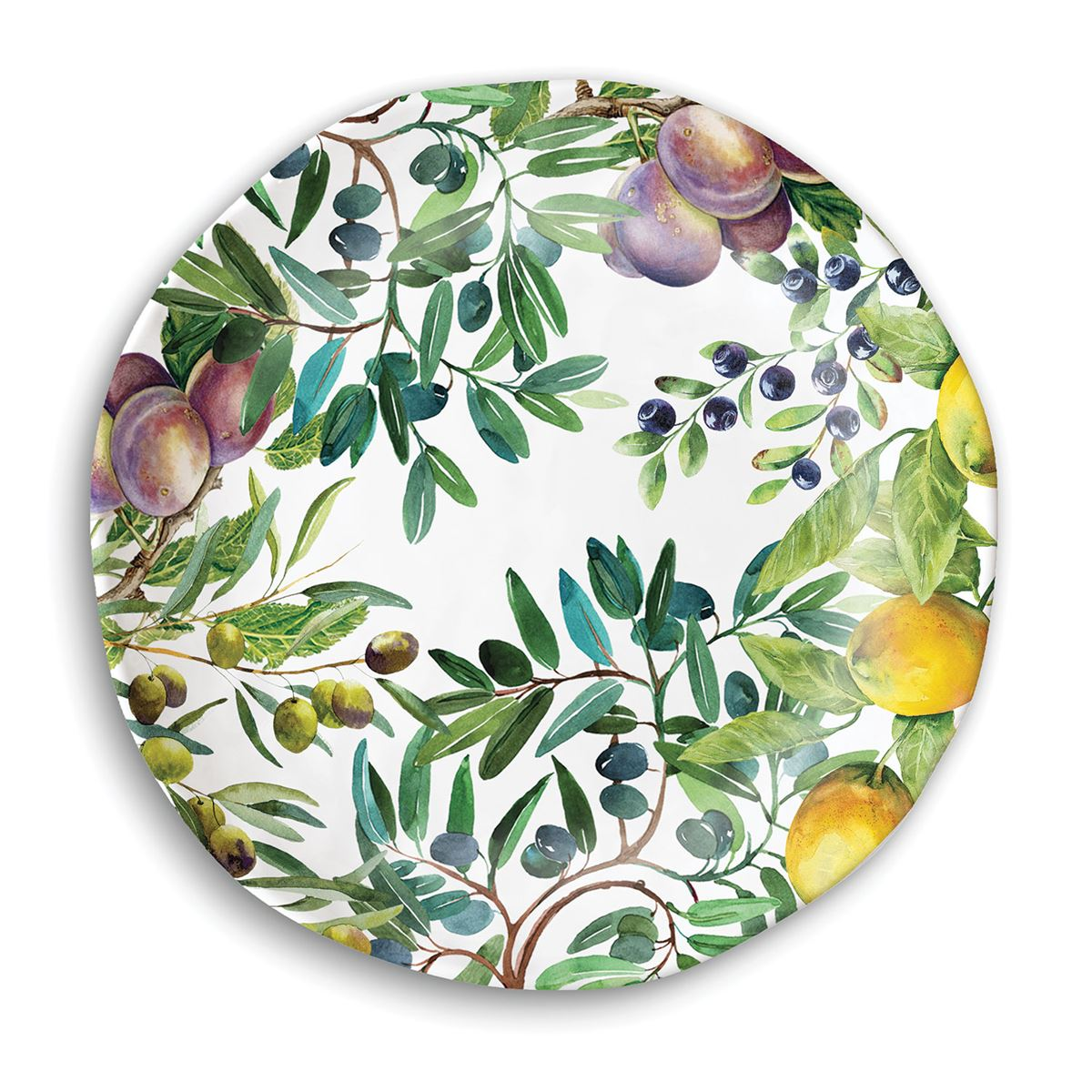 Tuscan Grove Melamine Casual Dinner Plate ...  sc 1 st  Ferris Wheels and Carousels & Michel Design Works Melamine Casual Dinner Plate - Tuscan Grove
