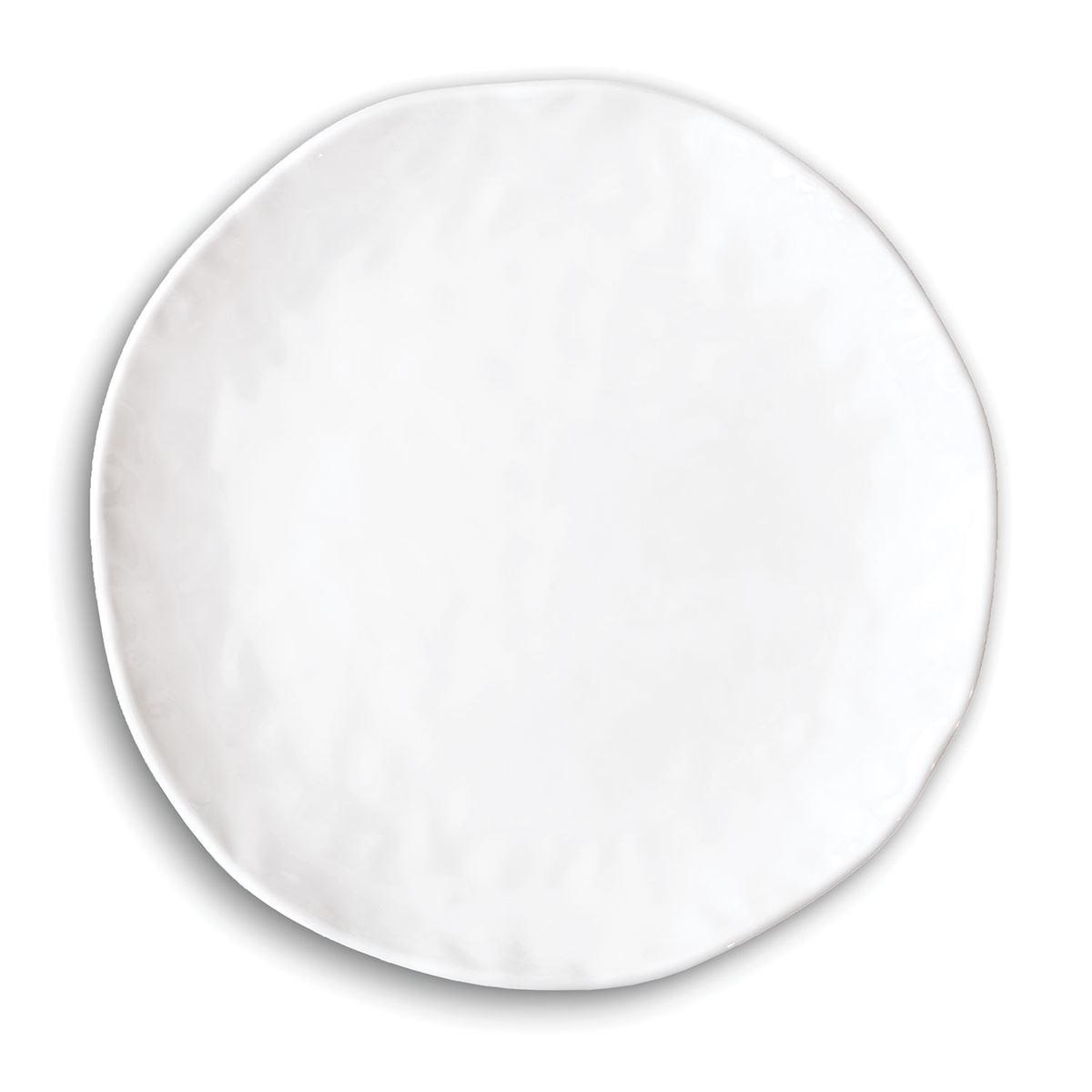 White on White Melamine Casual Dinner Plate ...  sc 1 st  Ferris Wheels and Carousels & Michel Design Works Melamine Casual Dinner Plate - White on White