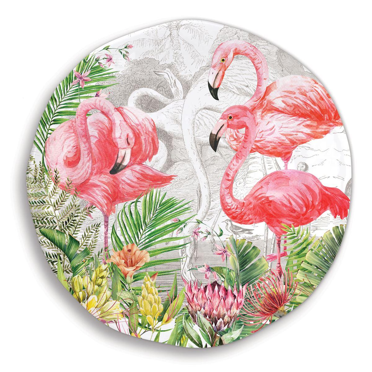 Michel Design Works Large Round Platter Flamingo