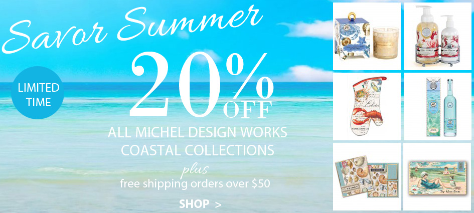 20% Off Michel Design Works Coastal Collections + Free Shipping Orders Over $50