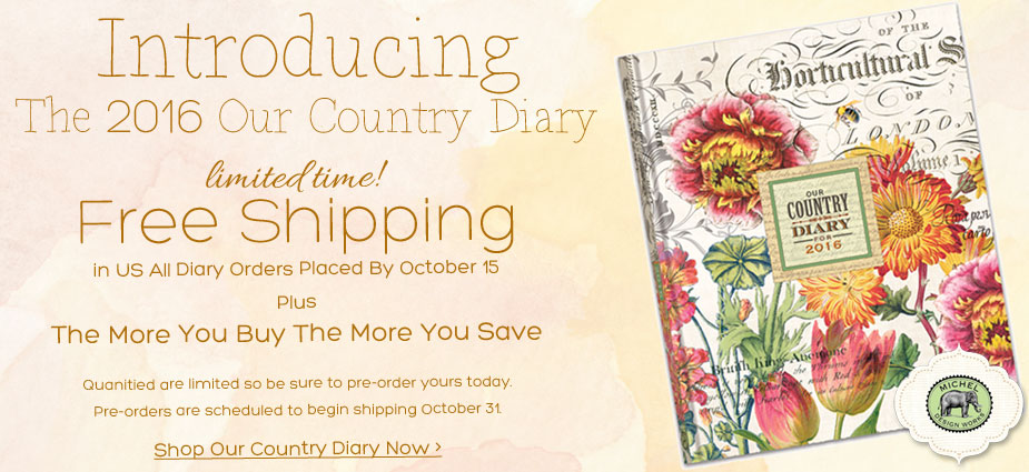 Introducing the 2016 Our Country Diary - New From Michel Design Works