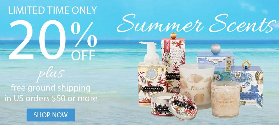 20% off all Michel Design Works summer scents