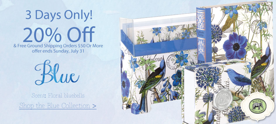 20% Off Michel Design Works Blue Collection + Free Shipping
