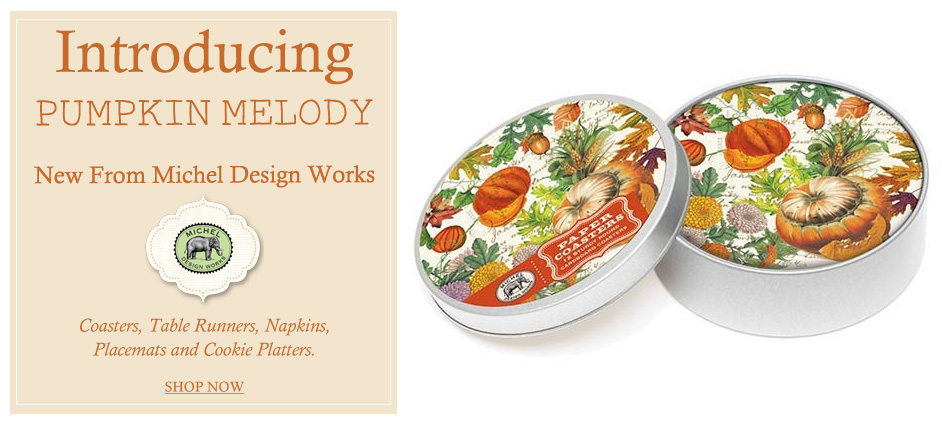 Introducing Pumpkin Melody - New from Michel Design Works