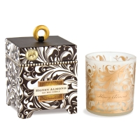 Black Florentine Honey Almond 6.5 oz. Soy Wax Candle