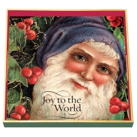 Joy To The World Decoupage Square Wooden Tray