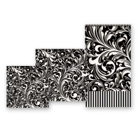 Black Florentine Hostess Napkins