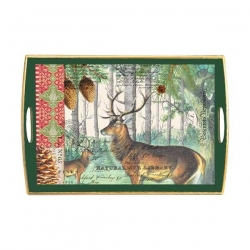 Balsam Fir Decoupage Wooden Tray