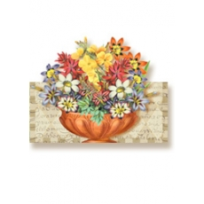 Flower Bowl Die-Cut Art Card With Envelope