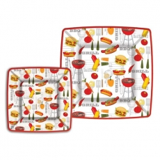Save 50%. Barbecue Luncheon Paper Plates  sc 1 st  Ferris Wheels and Carousels : paper plates decorative - pezcame.com