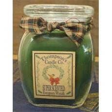 Evergreen Wreath  Jar Candle