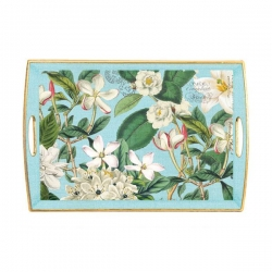Gardenia Decoupage Wooden Tray