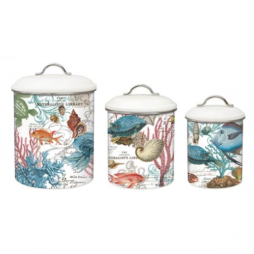 Michel Design Works Kitchen 3 Piece Canister Set Sea Life