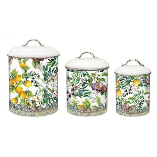 michel design works kitchen 3 piece canister set tuscan