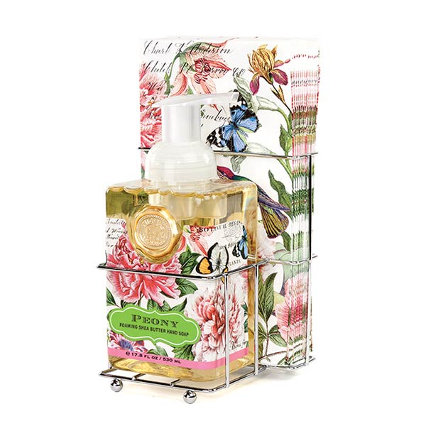 Peony Foaming Soap Napkins Set By Michel Design Works