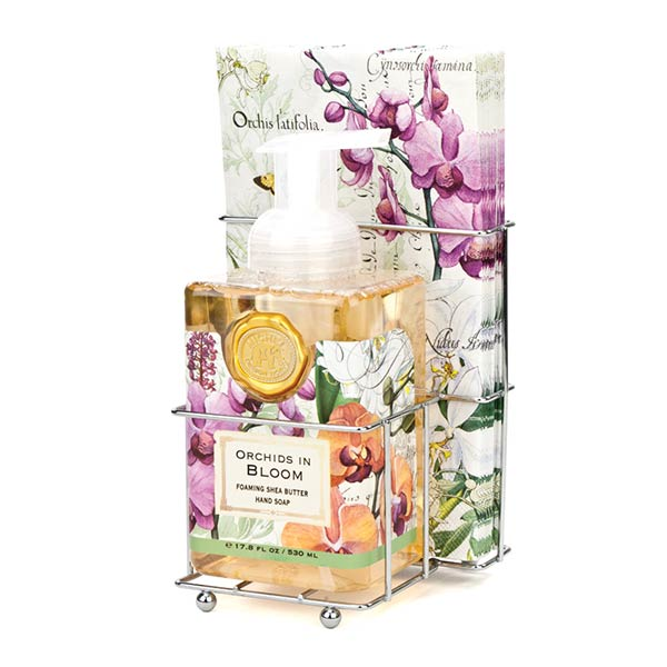 Orchids In Bloom Foaming Soap Napkins Set By Michel Design
