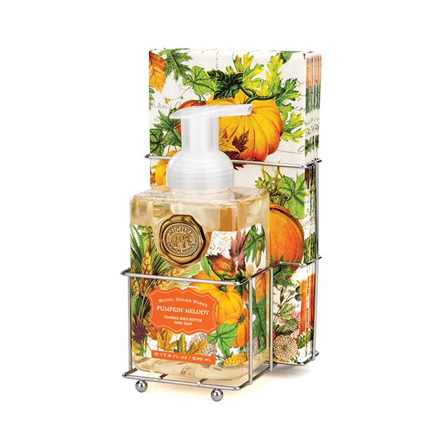 Pumpkin Melody Foaming Soap Napkins Set By Michel Design Works