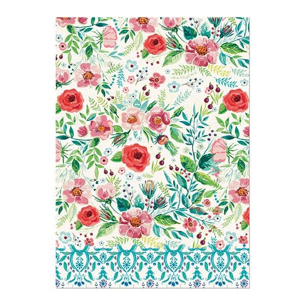 Wild Berry Blossom Kitchen Towel