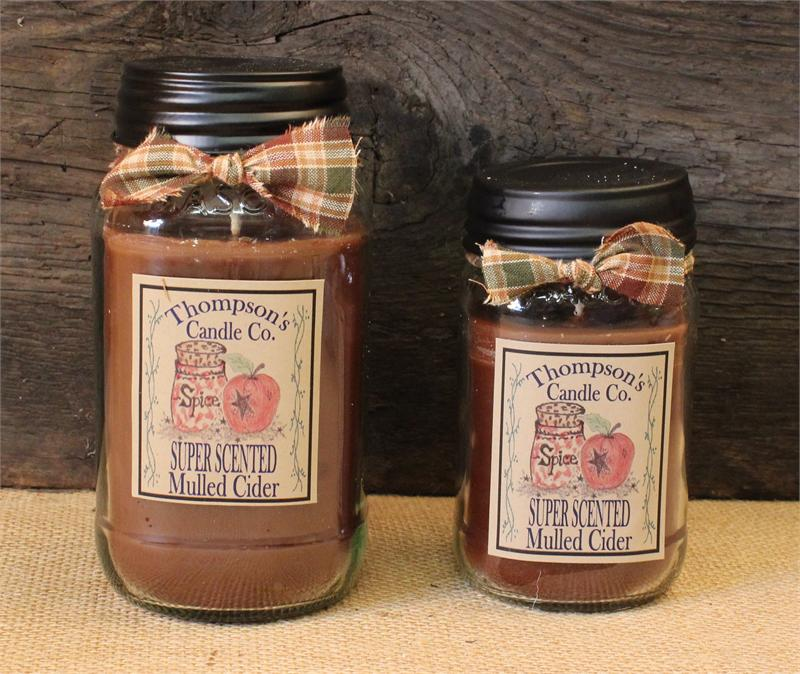 Mulled Cider Mason Jar Candle By Thompson Candles