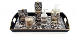 Michel Design Works Black Florentine Honey Almond Collection