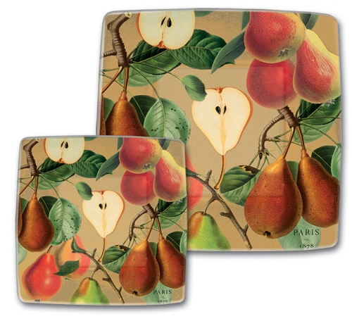 Tuscan Pear Luncheon Dessert 7 5 Quot Square Paper Plates